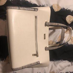 Kate Spade handbag - white with print